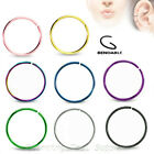 2pcs. 20G 18G 16G 14G Surgical Steel Seamless Nose Hoop Ring Earring Septum Ring image
