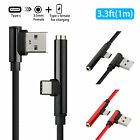 2In1 USB Type C To 3.5mm Jack Female AUX Music Audio/Charging Cable Cord 3.3FT