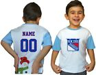New York Rangers Kids Tee Shirt NHL Personalized Hockey Youth Jersey Unisex Gift $9.9 USD on eBay