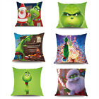 Grinch Pillow Case How the Grinch Stole Christmas Plush Pillow Cover Xmas Gifts image
