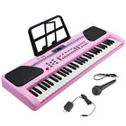 61 Key Music Electronic Keyboard Electric Digital Piano Organ w/ Stand Optional photo