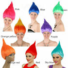 Troll Style Festival Party Colourful Elf/Pixie Cartoon Wig Characters Women US P image