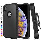 For Apple iPhone XR X Xs Max Case Cover Shockproof Series 3 Layer with Belt Clip