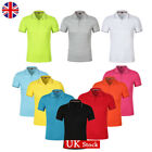 UK Women Solid Short Sleeve Polo Shirt Tops Ladies Golf Work Fitted Blouse S-XL