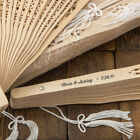 Personalized Sandalwood Fans Wedding Bridal Baby Shower Party Favors Pack of 100