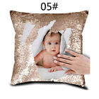 Text Sequin Pillows Cushion Cover Magic Reveal Gift Personalised Photo Your Name