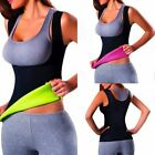 Womens Body Shaper Tummy Fat Burner Sweat Tank Top Weight Loss Workout Shapewear