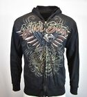 SILVER STAR Sweater Hoodie Mens L LARGE Sweatshirt Jacket Zip Up MMA UFC NEW