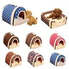 Pet Dog Cat Bed House Warm Soft Mat Bedding Igloo Basket Kennel Washable Cushion