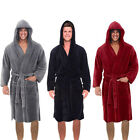 Внешний вид - Men Winter Plush Lengthened Shawl Bathrobe Home Clothes Long Sleeved Robe Coat F