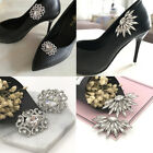 Removable Flower Rhinestone Crystal Wedding Bridal High-Heel Shoe Clips Decor