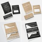 Personalised Wedding Invitations Sets Bundle Day or Evening RSVP (G11)