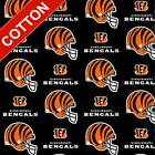 "Cincinnati Bengals NFL Cotton Fabric - 60"" Wide - Style# 6229 - Free Shipping!! $15.95 USD on eBay"