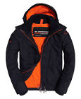 Superdry Mens Arctic Hood Windcheater Jacket Coat Petrol Acid Orange