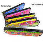 Kids 16 Holes Harmonica Wooden/Metal Painted Musical Instrument Educational Toy