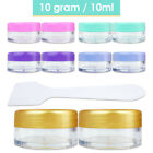 Внешний вид - 10G/10ML Makeup Cream Cosmetic Purple Sample Jar Containers with Spatulas