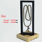 Clear Jewelry Necklace Suspended Coins Floating Display Case Stand Holder Box P