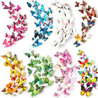 12pcs/lot Wall Stickers Cute Butterfly Art Decals Pvc 3d Home Decoration Popular