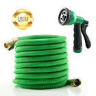 Deluxe 25/50/100 Feet Water Hose Spray Expandable Garden Flexible Nozzle Latex