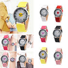 ED07 Faux Leather Watches Leather Accessories Durable Quartz Watch $2.35 USD on eBay