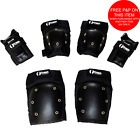 FRESHPARK 6 PIECE KNEE, ELBOW/WRIST PADS SAFETY SET FOR BMX,CYCLE,SCOOTER,SKATE