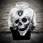 NFL Football Hoodie 3D Hooded Oakland Raiders Sweatshirt Jacket gift for fan