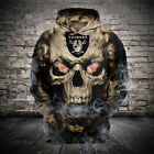 NFL Football Hoodie 3D Hooded Oakland Raiders Sweatshirt Jacket gift for fan on eBay