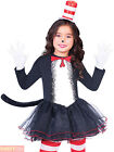 Kids Cat in the Hat Thing 1 and 2 Costume Boys Girls Seuss Fancy Dress Book Day