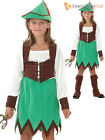 Deluxe Girls Robin Hood Maid Marion Costume Boys  Fancy Dress Book Week Day