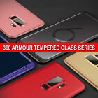 For Samsung J6 A6 A8 360° Full Body Shockproof Case Slim Cover+Tempered Glass
