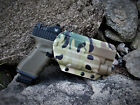 MultiCam OWB kydex holster with paddle Glock w/light TLR-1, X300 Ultra, APL
