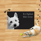 Microfibre Dog Towel West Highland White Terrier Pet Puppy Drying Blanket