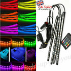 Car Interior Footwell Led Strip Lights Rgb Multicolour Remote Atmosphere Deco Uk