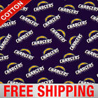 "Los Angeles Chargers NFL Cotton Fabric - 60"" Wide - Style# 14711 - Free Shipping $15.95 USD on eBay"