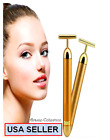 Bar 24K Golden Skin Care Anti-Aging Facial Massage Beauty Roller Girlfriend GIFT