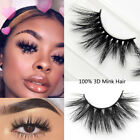 1Pair SKONHED 100% 3D Mink Hair False Eyelashes Wispy Fluffy Multilayers Lashes