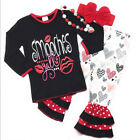 Valentine's Day Smooches Baby Toddler Girl Boutique Outfit Kids Clothing Infant