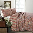 Lara Spice Paisley Reversible 100%Cotton 3-Piece Quilt Set, Bedspread, Coverlet image
