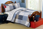 Benjamin Plaid Reversible 100%Cotton Quilt Set, Bedspread, Coverlet image