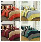 DCP 7 Piece Comforter Set Complete Bed in a Bag Stripe Plaid King Queen Cal King image