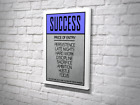 Success Piece Of Entry Motivation Saying Canvas Artwork Ready To Hang Stretch