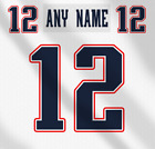 New England Patriots NFL White Football Jersey Any Name Any Number Lettering Kit $49.99 CAD on eBay