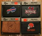 Men's Leather tri-fold Wallet Browns Chargers Bills Buccaneers Rico black brown on eBay