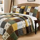 Huitt Country Real Patchwork 100%Cotton 3-Piece Quilt Set, Bedspread, Coverlet image