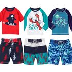 Gymboree Swimwear 18-24 2T 3T 4T 5T Shorts Rash Guard Set Alien Octopus