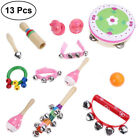 23X Wooden Kids Music Instruments Kit Toys Set Children Toddlers Percussion Doll