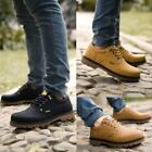 Fashion Men Casual Oxfords Lace Up Waterproof work hiking Boots Outdoor Shoes