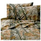 Bed Sheet Set Queen Size Cotton Poly Blend Realtree Mountain Lodge For Bedrooms