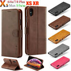 Magnetic Leather Wallet Flip Stand Cover For iPhone Xr Xs Max X 8 7 6S Plus Case