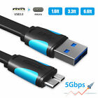 USB 3.0 Cable A to Micro B For WD Toshiba Samsung External Hard Disk Drive HDD